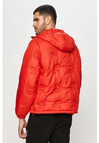 Czerwona kurtka adidas Originals na co dzień, z kapturem
