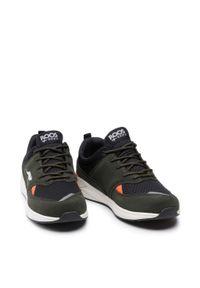 KangaRoos - Sneakersy KANGAROOS - Lites 19047 000 8010 Olive/Jet Black. Okazja: na uczelnię, na spacer. Kolor: zielony. Materiał: skóra, zamsz, materiał. Szerokość cholewki: normalna. Wzór: aplikacja