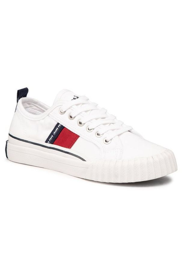 Pepe Jeans Tenisówki Ottis Boy PBS30476 Biały. Kolor: biały