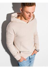 Biała bluza Ombre Clothing z kapturem