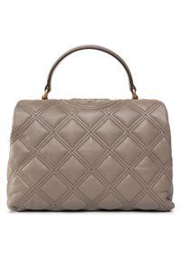 Beżowa torebka klasyczna Tory Burch klasyczna
