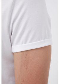Resteröds - T-shirt. Okazja: na co dzień. Kolor: biały. Materiał: włókno, dzianina. Styl: casual