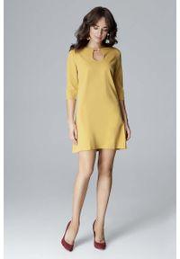 Żółta sukienka Katrus wizytowa