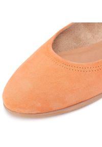 Pomarańczowe baleriny Tamaris klasyczne, z cholewką