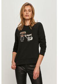 Czarna bluza Karl Lagerfeld na co dzień, casualowa