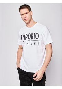 Biały t-shirt Emporio Armani