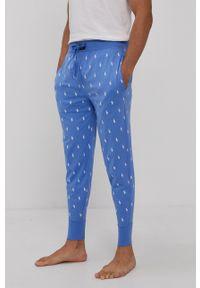 Polo Ralph Lauren - Spodnie piżamowe. Kolor: niebieski. Materiał: dzianina