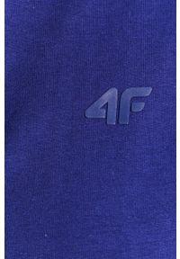 4f - 4F - Bluza. Okazja: na co dzień. Typ kołnierza: kaptur. Kolor: niebieski. Styl: casual