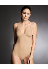 I.D. SARRIERI - Body w kolorze nude Daisy. Kolor: beżowy. Materiał: materiał