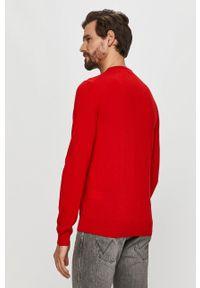Czerwony sweter Hugo casualowy, z długim rękawem