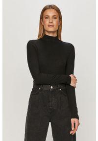 Czarna bluzka z długim rękawem GAP na co dzień, casualowa