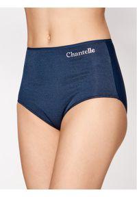 Niebieskie figi Chantelle z podwyższonym stanem