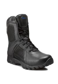 Czarne buty trekkingowe Bates z cholewką, na zamek