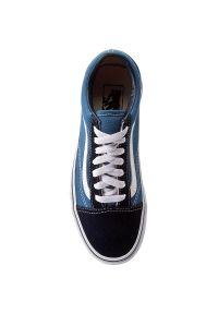 Niebieskie buty sportowe z cholewką, Vans Old Skool, na co dzień