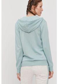 Zielona bluza rozpinana Adidas casualowa, na co dzień