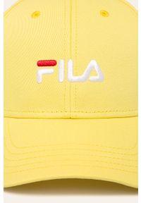 Żółta czapka z daszkiem Fila