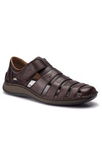 Brązowe sandały Rieker na co dzień, casualowe