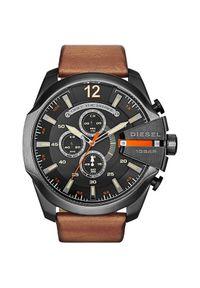 Brązowy zegarek Diesel sportowy
