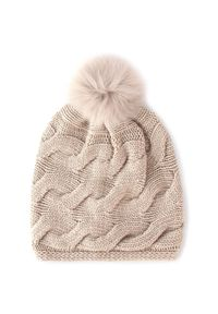 Beżowa czapka zimowa Marella