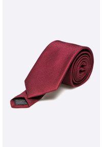 Jack & Jones - Krawat. Kolor: czerwony. Materiał: materiał. Wzór: gładki