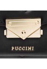 Czarna torebka Puccini skórzana