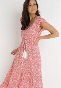 Born2be - Koralowa Sukienka Cadulenn. Kolor: pomarańczowy