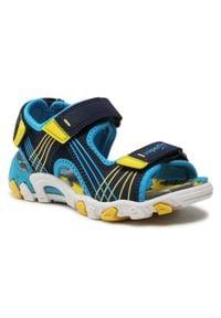 Superfit - Sandały SUPERFIT - 1-600100-8000 M Blau/Gelb. Kolor: niebieski. Materiał: materiał, skóra