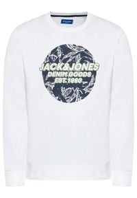 Jack & Jones - Jack&Jones Bluza Lefo 12185696 Biały Regular Fit. Kolor: biały