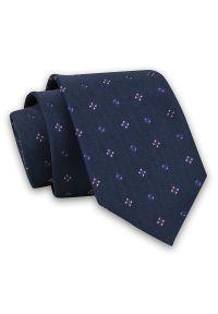 Różowy krawat Angelo di Monti klasyczny