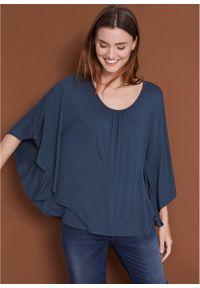 "Shirt ""nietoperz"" bonprix ciemnoniebieski. Kolor: niebieski"