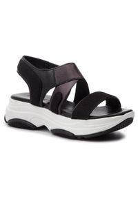 Czarne sandały Togoshi casualowe, na co dzień