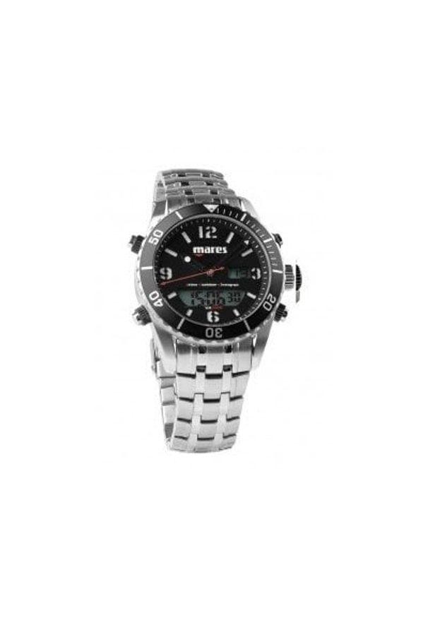 Srebrny zegarek MARES cyfrowy, sportowy