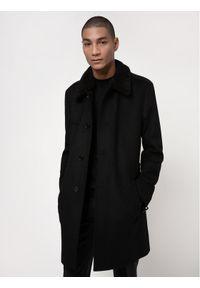 Czarny płaszcz przejściowy Hugo