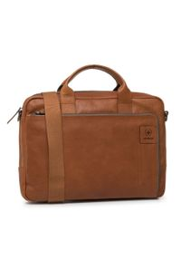 Brązowa torba na laptopa Strellson
