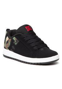 DC Sneakersy Court Graffik ADBS100207 Czarny. Kolor: czarny