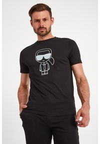 Karl Lagerfeld - T-SHIRT KARL LAGERFELD. Materiał: guma. Wzór: napisy, nadruk