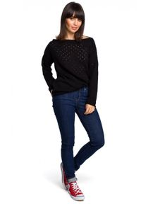BE Knit - Delikatny i przewiewny pastelowy sweterek z bawełną. Materiał: bawełna. Wzór: ze splotem