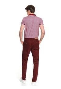 TOP SECRET - Spodnie typu chino slim fit. Okazja: na co dzień, do pracy. Kolor: czerwony. Sezon: wiosna. Styl: casual, elegancki