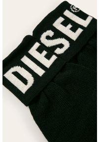 Czarne rękawiczki Diesel