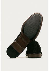 vagabond - Vagabond - Półbuty skórzane. Nosek buta: okrągły. Zapięcie: sznurówki. Kolor: czarny. Materiał: skóra