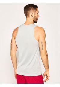 Nike Koszulka techniczna Erkek Spor Atlet BV9387 Szary Regular Fit. Kolor: szary