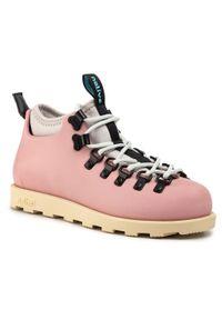 Różowe buty trekkingowe Native z cholewką