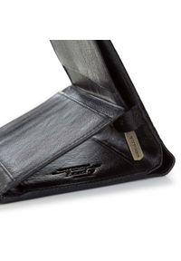 Wittchen - Męski portfel skórzany duży. Kolor: czarny. Materiał: skóra