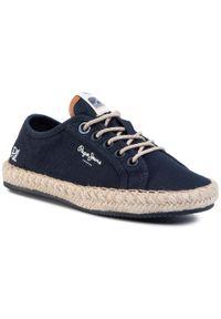 Pepe Jeans - Espadryle PEPE JEANS - Tourist Island Boys PBS10092 Navy 595. Okazja: na uczelnię, na spacer. Kolor: niebieski. Materiał: materiał. Szerokość cholewki: normalna
