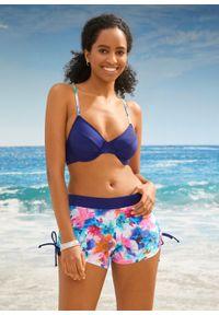 Biustonosz bikini na fiszbinach bonprix ciemnoniebieski. Kolor: niebieski