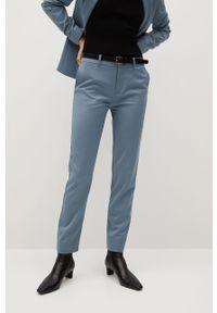 Niebieskie spodnie materiałowe mango