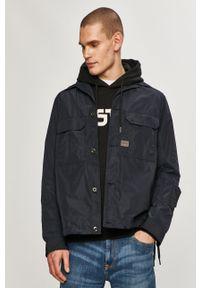 Niebieska kurtka G-Star RAW gładkie, casualowa, bez kaptura, na co dzień