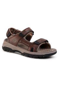 Brązowe sandały skechers klasyczne, na lato