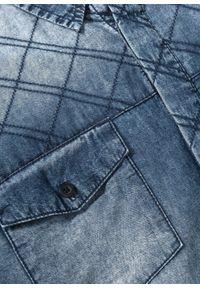 Niebieska koszula bonprix długa, z długim rękawem
