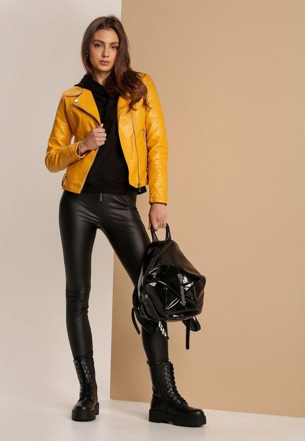 Żółta kurtka ramoneska Renee